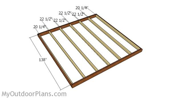 Fitting the intermediary joists