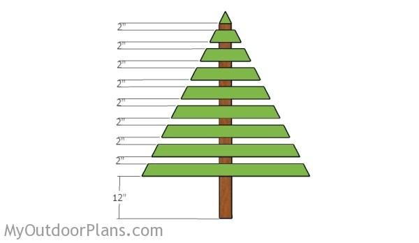 Wood Christmas Tree Plans | MyOutdoorPlans | Free ...