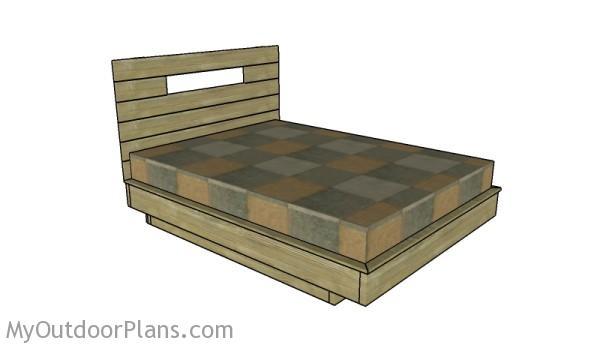 Floating bed frame plans myoutdoorplans free for Suspended bed plans