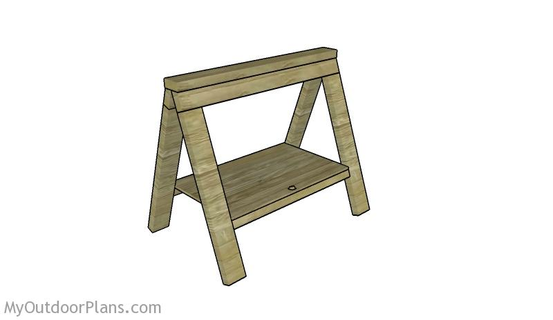 Folding Sawhorse Plans Free Myoutdoorplans Free Woodworking