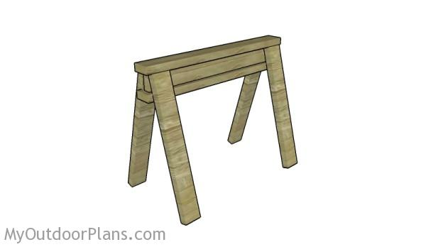 I Beam Sawhorse Plans | MyOutdoorPlans | Free Woodworking ...