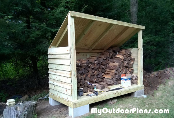Lean-To-Firewood-Shed
