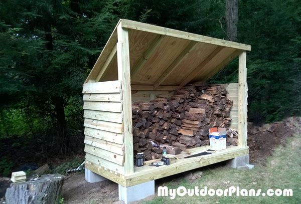 DIY Lean to Firewood Shed