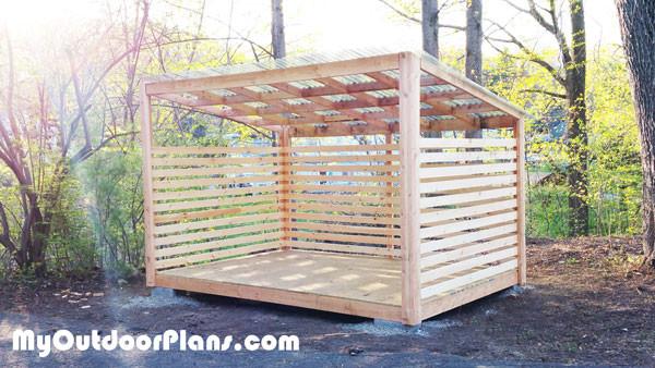 8x12 Wood Storage Shed | MyOutdoorPlans | Free Woodworking ...
