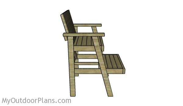 Lifeguard Chair Plans Free  sc 1 st  MyOutdoorPlans & Lifeguard Chair Plans | MyOutdoorPlans | Free Woodworking Plans and ...