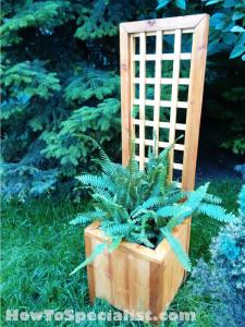 Planter-with-trellis-plans