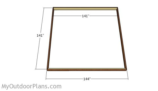 Shed floor frame