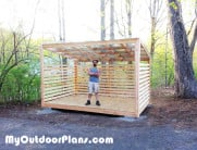 8×12 Wood Storage Shed