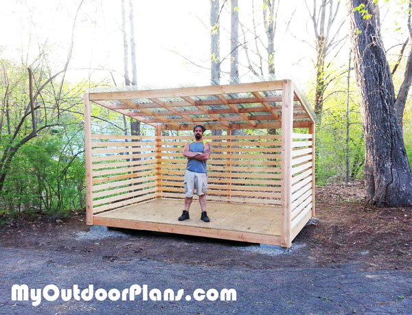 8x12 Wood Storage Shed | MyOutdoorPlans | Free Woodworking Plans and ...