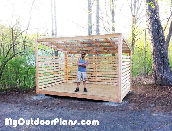 8x12 Wood Storage Shed