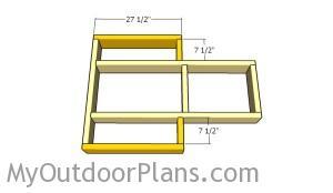 Assembling the top frame