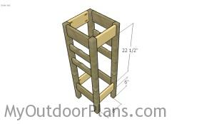 Assembling the wine rack plant stand