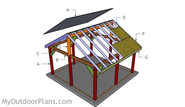 16x16 Outdoor Pavilion Plans | MyOutdoorPlans | Free Woodworking Plans and Projects, DIY Shed ...