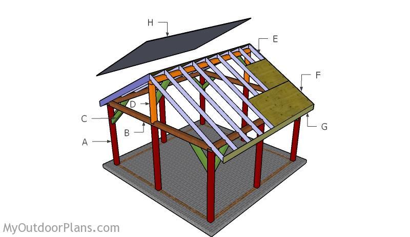 16x16 Pavilion Roof Plans