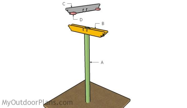 Building a bird feeding station