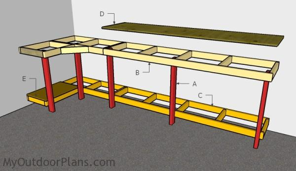 Building a garage workbench. Garage Workbench Plans   MyOutdoorPlans   Free Woodworking Plans