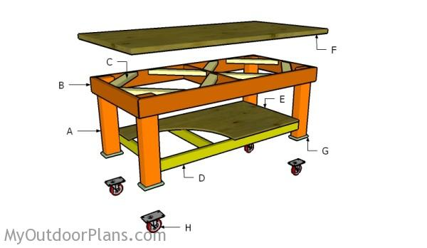Building a heavy duty workbenchHeavy Duty Workbench Plans   MyOutdoorPlans   Free Woodworking  . Free Plans Building Wood Workbench. Home Design Ideas