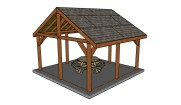 16×16 Outdoor Pavilion Plans