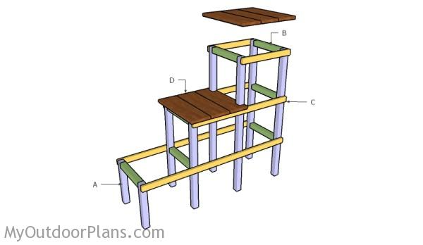 Building a tiered plant stand