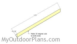 Building the roofing trims