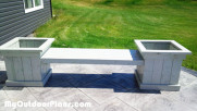 DIY Bench With Planters