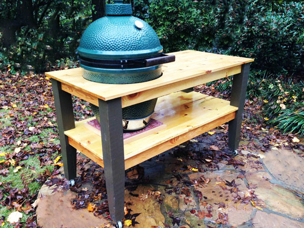 DIY Big Green Egg Table | MyOutdoorPlans | Free Woodworking ... Amazing Kitchen Ideas Big Green Egg on big green egg design, green egg small kitchen ideas, big green egg recipes, big green egg dinner,