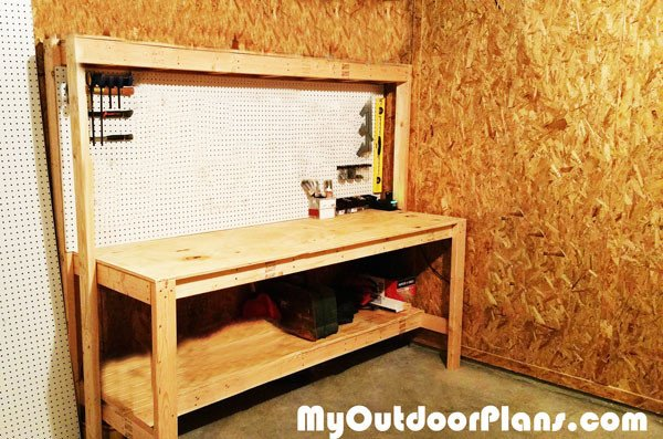 Diy Workbench With Peg Board Myoutdoorplans Free