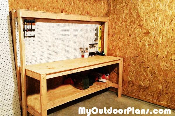 DIY Workbench with Peg Board