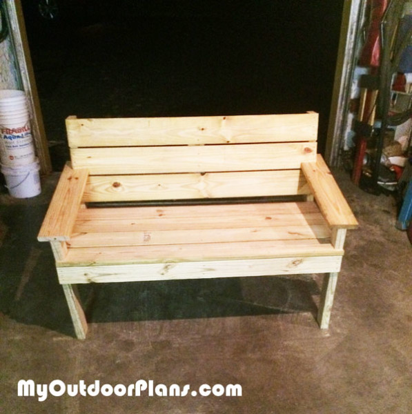 DIY Park Bench | MyOutdoorPlans | Free Woodworking Plans and Projects, DIY Shed, Wooden ...