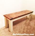 DIY Farmhouse Seat Bench