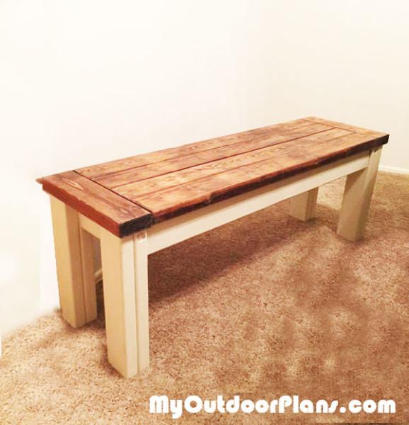 Diy Farmhouse Seat Bench Myoutdoorplans Free