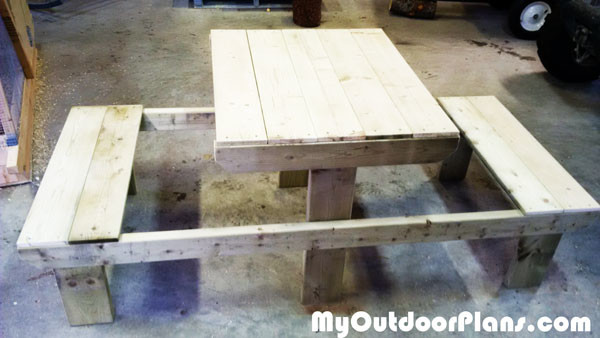 DIY Two Person Picnic Table