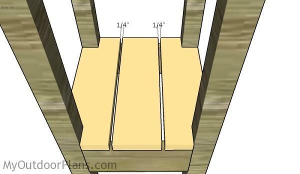 Fitting the shelf slats