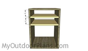 Fitting the shelves