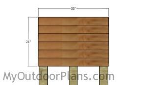 Fitting the top panel slats