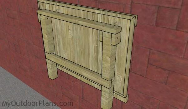 Fold down workbench