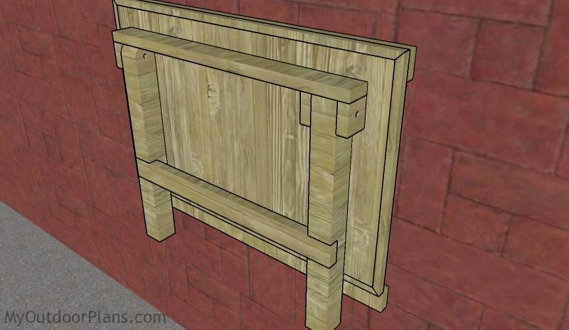 Wall Mounted Folding Workbench Plans