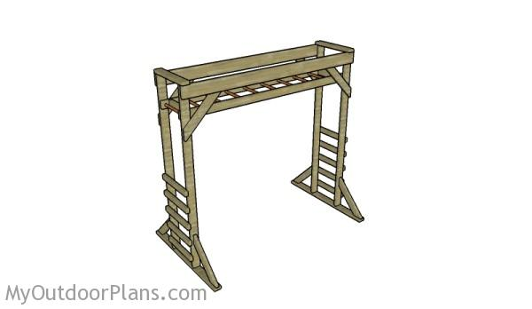 Stand Alone Monkey Bars For Backyard monkey bar plans | myoutdoorplans | free woodworking plans and