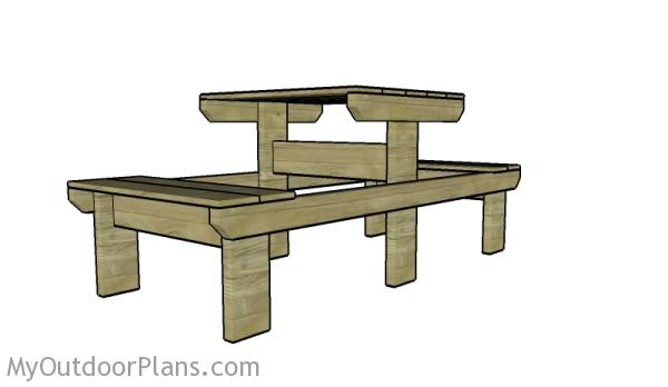 Picnic table for two persons plans