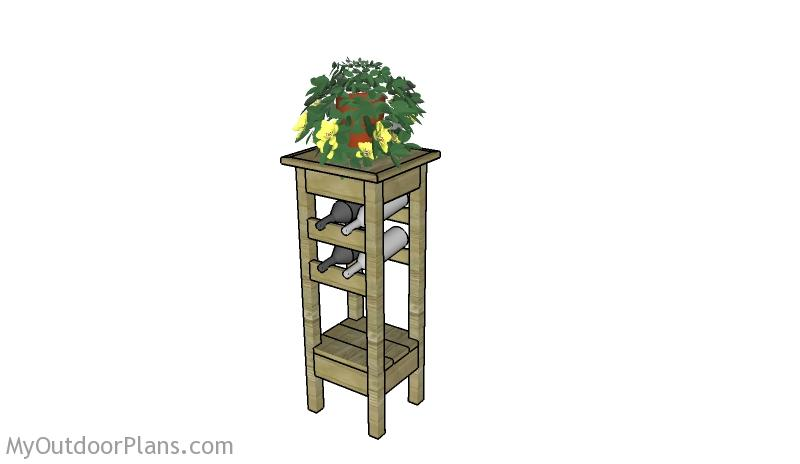 Plant Stand With Wine Rack Plans