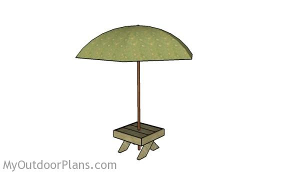 Small Table Umbrella Stand Plans