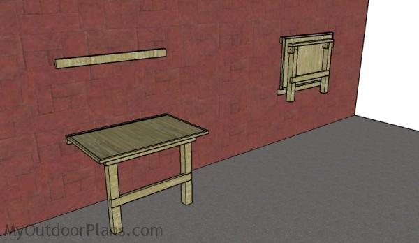 Wall mounted folding workbench  plans