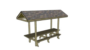 Picnic table myoutdoorplans free woodworking plans and for 12 foot picnic table