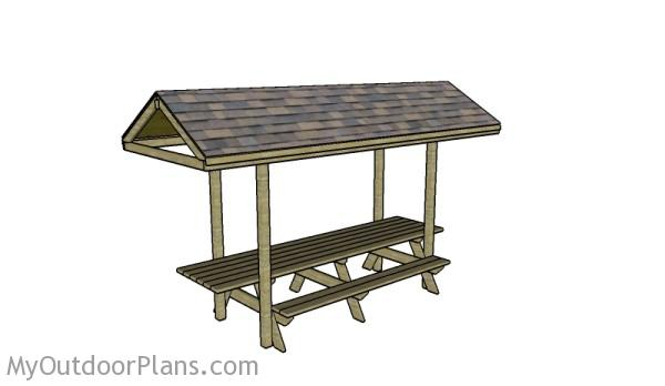 Building a Picnic Table Roof | MyOutdoorPlans | Free Woodworking Plans ...