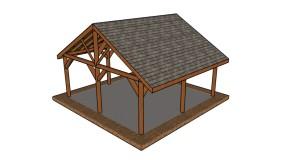 20×20 Picnic Shelter Plans