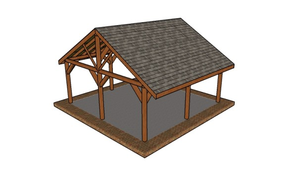 20x20 Picnic Shelter Plans