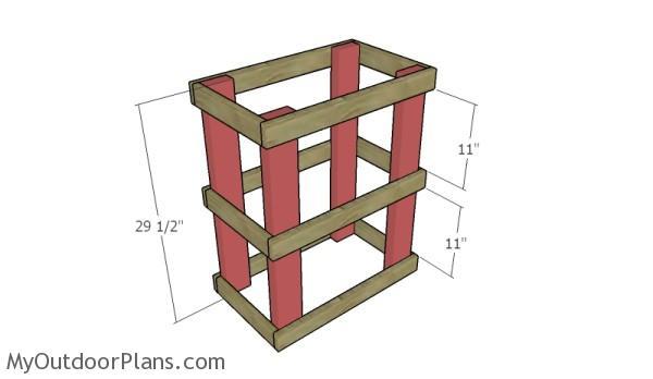 Assembling the butcher block table