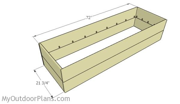 Assembling the frame of the planter box