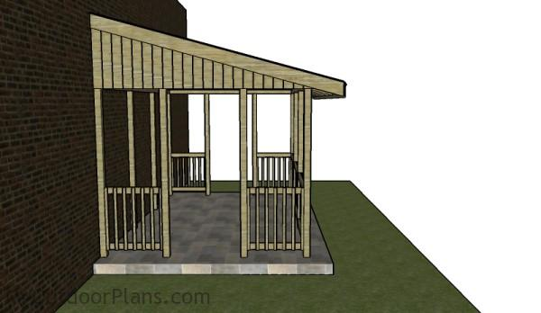 Attached gazebo plans