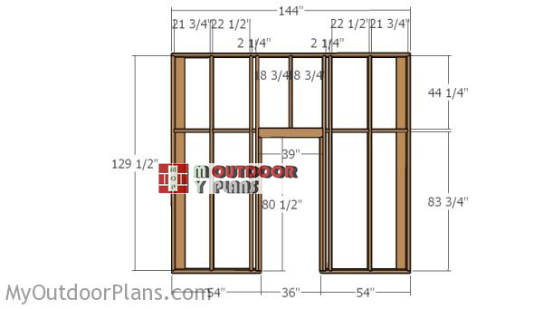 Buildig-the-front-wall-frame